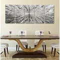 Statements2000 Silver 5 Panel Modern Metal Wall Art Sculpture by Jon Allen - Vortex 5P - Thumbnail 5