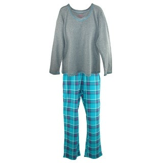 Hanes Women's Long Sleeve Tee and Pant Pajama Pant Set
