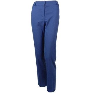 Anne Klein Women's Woven Pattern Slim Leg Director Dress Pants - 12