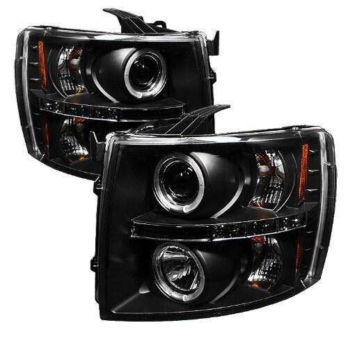 Spyder Auto Chevy Silverado 1500/2500/3500 Black Halogen LED