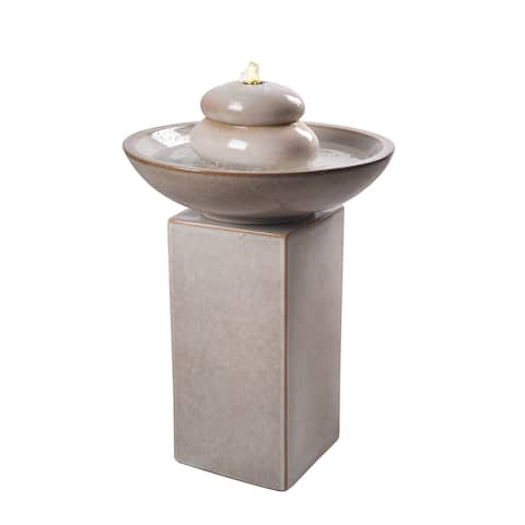 """Colton Ivory 29 Inch Height Floor Fountain - 20"""" x 29"""""""
