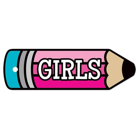 Plastic Hall Pass Girls Pencil