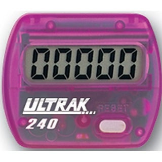 Ultrak 240 - Electronic Step Counter Pedometer - Purple