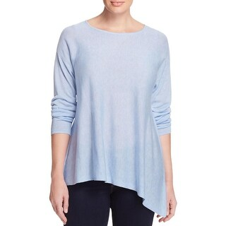 Eileen Fisher Womens Plus Pullover Top Silk Asymmetric