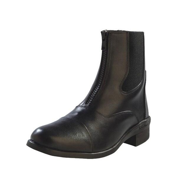 Old West Cowboy Boots Womens Riding Rubber Zipper Black