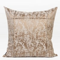"G Home Collection Luxury Champagne Gold Abstract Pattern Frame Jacquard Pillow 22""X22"""