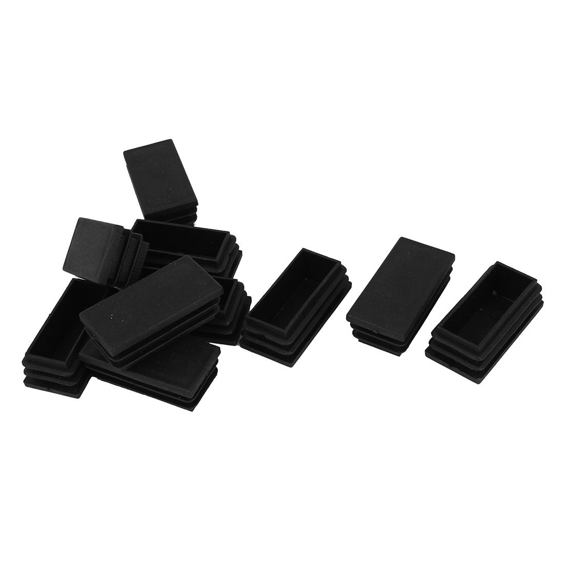 Unique Bargains 10 Pieces Plastic Blanking End Cap Inserts Fit 23mm x 48mm Rectangle Tube Pipe