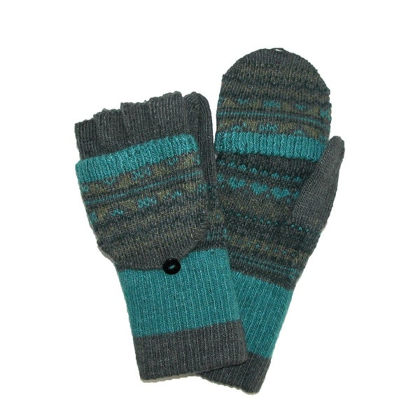 Jeanne Simmons Women's Knit Flip Top Fingerless Gloves Mittens