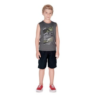 Pulla Bulla Little Boy Graphic Tank Top Sleeveless Shirt (More options available)