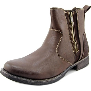 Steve Madden M-Ballad Men Round Toe Leather Boot
