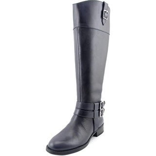 INC International Concepts Fahnee Wide Calf Women Leather Blue Knee High Boot