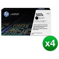 HP 507A Black Original LaserJet Toner Cartridge For US Government (CE400AG)(4-Pack)