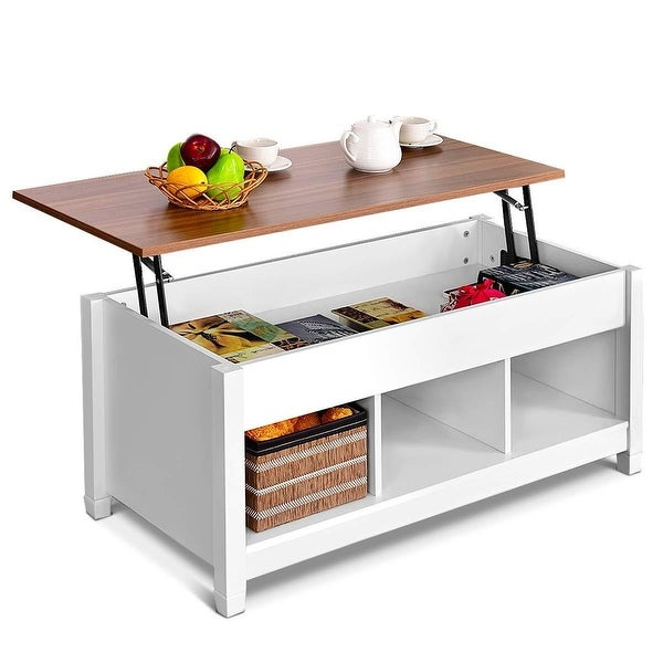 Shop Costway Lift Top Coffee Table W Hidden Compartment And Storage