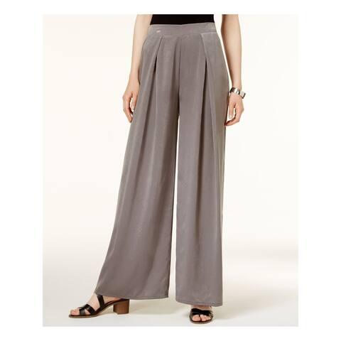 BAR III Womens Gray Wide Leg Wear To Work Pants Size M