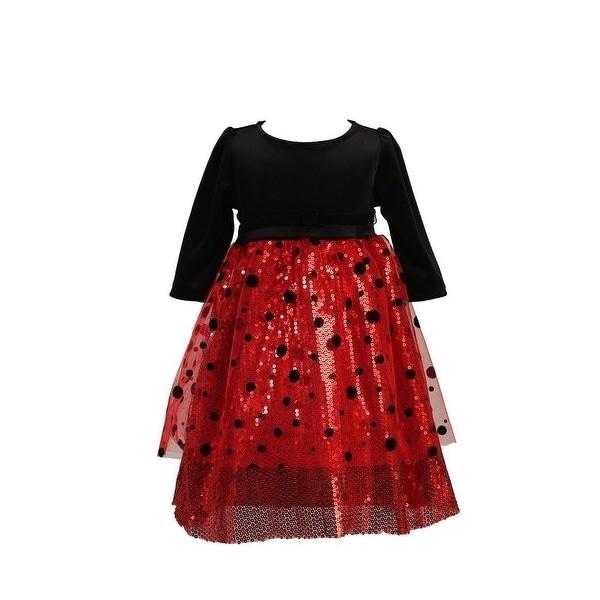 Shop Angels Garment Girls Black Velvet Top Polka Dot Mesh