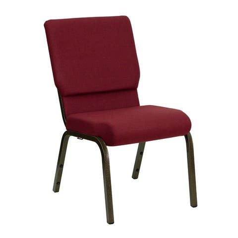 Hercules Series Armless Cushioned Waterfall Church Chair