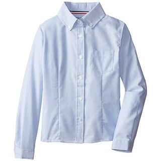 French Toast Girls 4-6X Long Sleeve Oxford Shirt