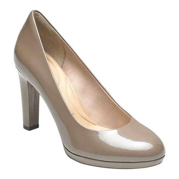 0f05b717bbd8f Rockport Women's Seven To 7 Ally Plain Pump Taupe Grey Pearl Leather