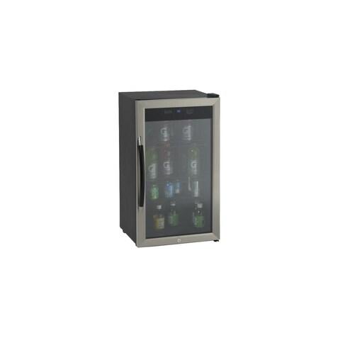 Avanti BCA306 3.1 Cu. Ft. Beverage Cooler - Black/Stainless Steel - STAINLESS STEEL - N/A