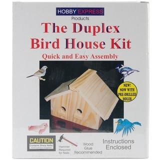 Unfinished Wood Kit-Duplex Bird House