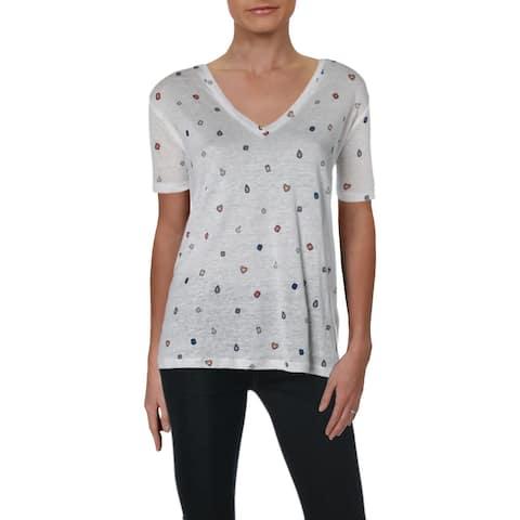 Rails Womens T-Shirt Linen Printed - Gemstones