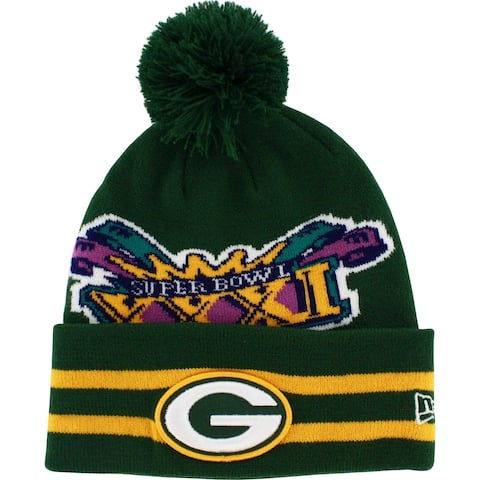 Green Bay Packers Superbowl XXXI Knit Hat with Pom