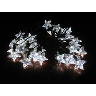 Smart Solar 3730WR30 Solar Star Light String with Star Covers - White