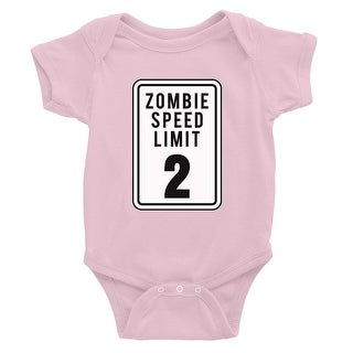 Zombie Speed Limit Baby Bodysuit Gift Pink