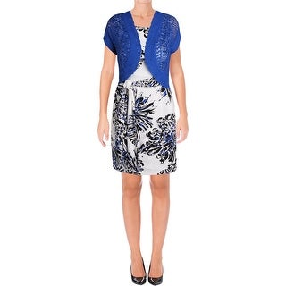 Signature By Robbie Bee Womens Petites Dress With Jacket 2PC Sleeveless