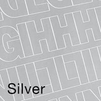 """Permanent Adhesive Vinyl Letters & Numbers 1"""" 183/Pkg-Silver"""