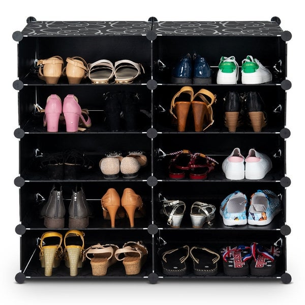 13 Cubes 24 Pairs Space Saving Portable Home Shoes Storage Cabinet Organizer US