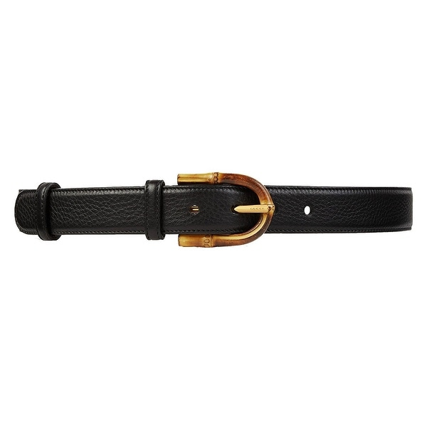 253bc5afb37 Shop Gucci Women s Rose Red Leather Bamboo Buckle Belt 322954 6227 (90    36) - 90   36 - Free Shipping Today - Overstock - 25618849