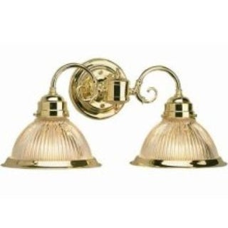Design House 503029 Millbridge 2-Light Wall Mount, Polished Brass