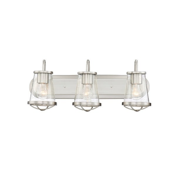 """Designers Fountain 87003 Darby 3-Light 24"""" Wide Bathroom Vanity Light with Seedy Glass Shades - n/a"""