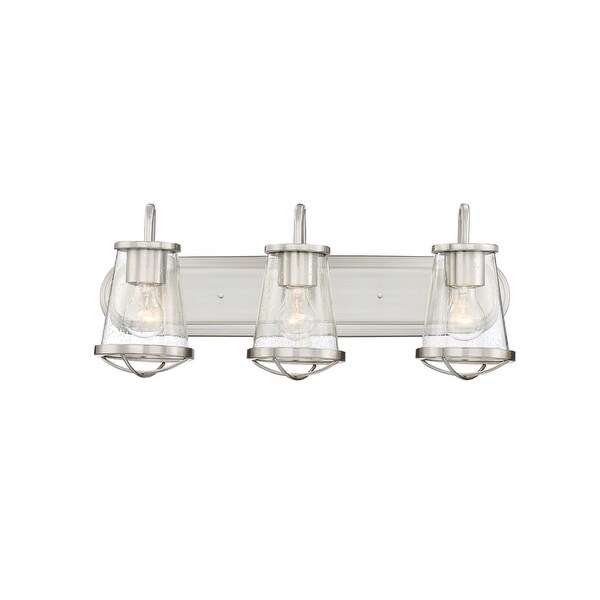 "Designers Fountain 87003 Darby 3-Light 24"" Wide Bathroom Vanity Light with Seedy Glass Shades - n/a"