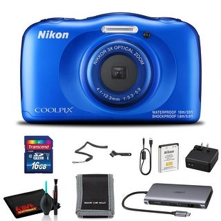 Link to Nikon COOLPIX W100 Digital Camera (Blue) with 16GB SD Memory and Cleaning Kit Similar Items in Digital Cameras