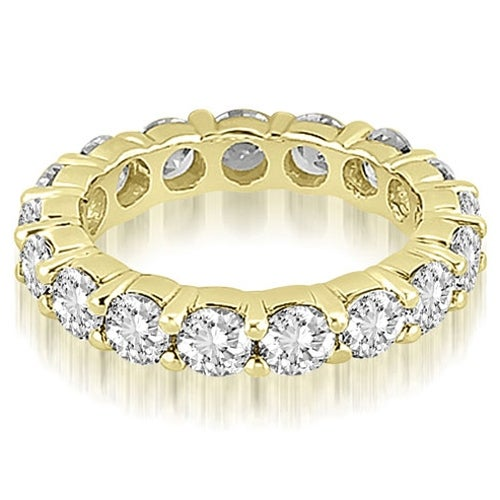 5.60 cttw. 14K Yellow Gold Round Diamond Eternity Ring