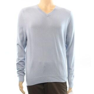 Nordstrom NEW Light Blue Mens Size Medium M V-Neck Cashmere Sweater