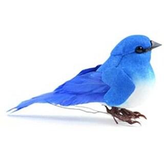 "Mountain Bluebird - Mushroom Bird W/Wire 3"""
