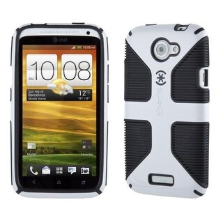 CandyShell Grip Case for HTC One X - White/Black - Retail Packaging