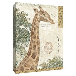 """PTM Images 9-154973  PTM Canvas Collection 10"""" x 8"""" - """"La Giraffe"""" Giclee Giraffes Art Print on Canvas"""