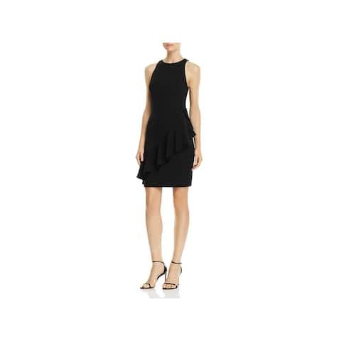 Aidan by Aidan Mattox Womens Scuba Dress Mini Ruffled