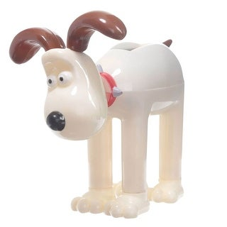Puckator Wallace and Gromit Plastic Figurine - Animated Solar Powered Pal - Novelty Collectible Item - Gromit - beige - 3.5 in.