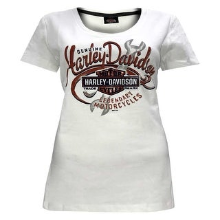 Harley-Davidson Women's Burning Power Short Sleeve Scoop Neck Tee 5L0J-HF65