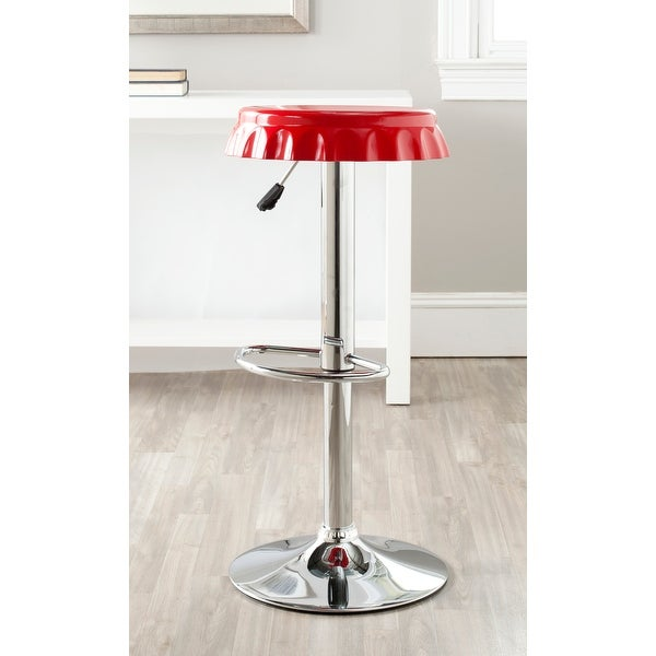 SAFAVIEH Bunky Red Adjustable 24-32-inch Bar Stool - 0. Opens flyout.