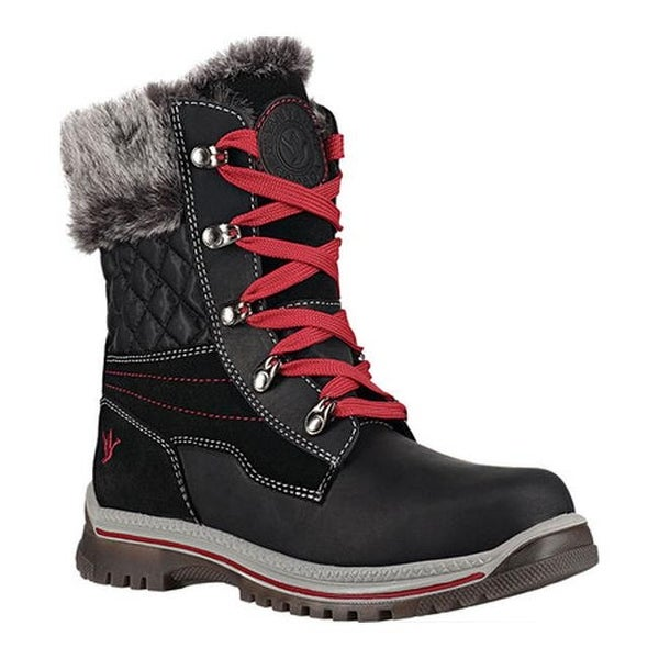 Maleo Winter Boot Black/Red Leather