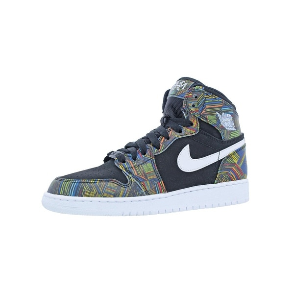 2336f8f12332 Jordan Girls Air Jrodan 1 Retro High BHM GG Basketball Shoes Big Kid  Printed - 4