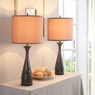 Roselle Bronze Table Lamp (Set of 2)