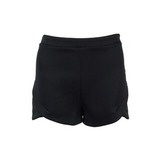 Material Girl Juniors' Tulip-Hem Shorts - caviar black