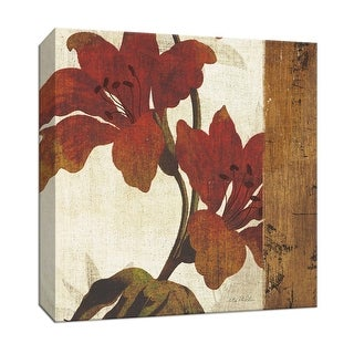 """PTM Images 9-152411  PTM Canvas Collection 12"""" x 12"""" - """"Floral Harmony III"""" Giclee Flowers Art Print on Canvas"""